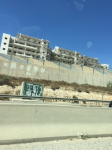 Building is even going on in the Palestinian areas, which can be seen as a positive thing although this is West Bank, not Gaza.