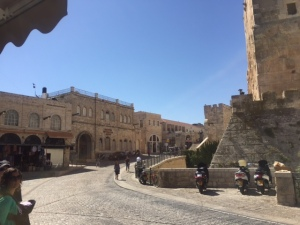 Inside the Jaffa Gate (one of 13 gates of the city) you find buildings that used to house consulates such as the US consulate. Now they are cultural centers for various countries at the meeting point of the Arab and Armenian quarters.