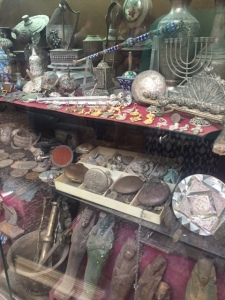 In the Arab Shuk in Jerusalem you can purchase Jewish, Christian, or Muslim religious articles all in the same place. Also fake antiquities from Egypt and the Near East.