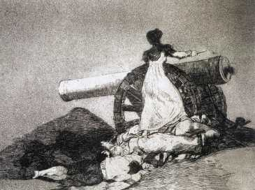 "Goya, ""What Courage!"", etching, aquatint, and drypoint, 1810-15"