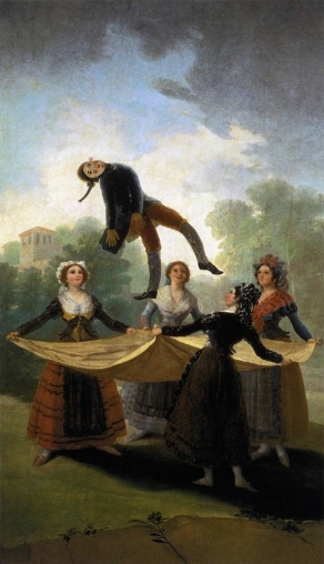 "Goya, ""The Straw Manikin,"", oil on canvas, 1791-92,"