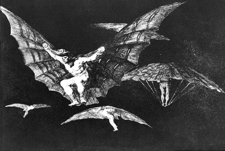 "Goya, "" A Way of Flying"", etching and aquatint, 1816-23"