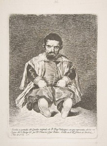 "Goya (after Velasquez), ""The Dwarf Sebastian Morra"", 1778, etching"
