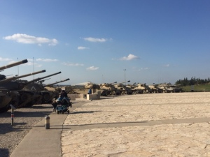 The main feature here are the tanks, some captured and retooled to Israeli standards and some developed and manufactured by Israel itself. It seems the tank is the main weapon of warfare here.