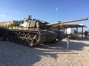This tank has an interesting story- captured by Syria from Israel, sent to Russia, and recently returned to Israel.